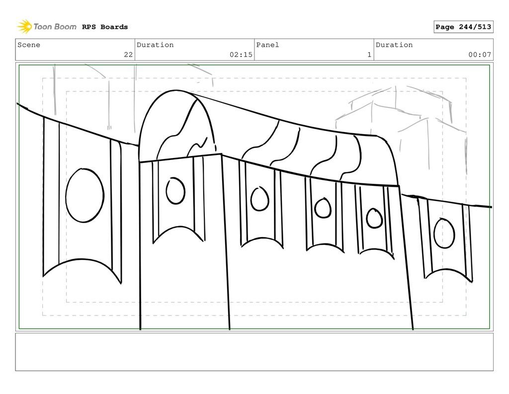 Scene 22 Duration 02:15 Panel 1 Duration 00:07 ...