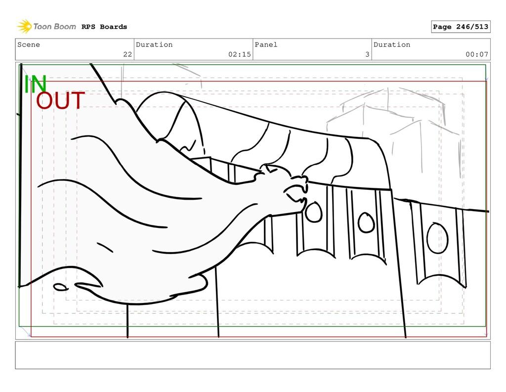 Scene 22 Duration 02:15 Panel 3 Duration 00:07 ...