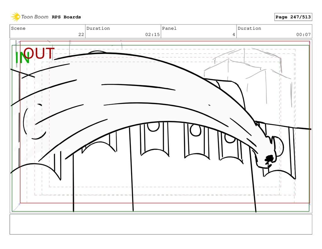 Scene 22 Duration 02:15 Panel 4 Duration 00:07 ...