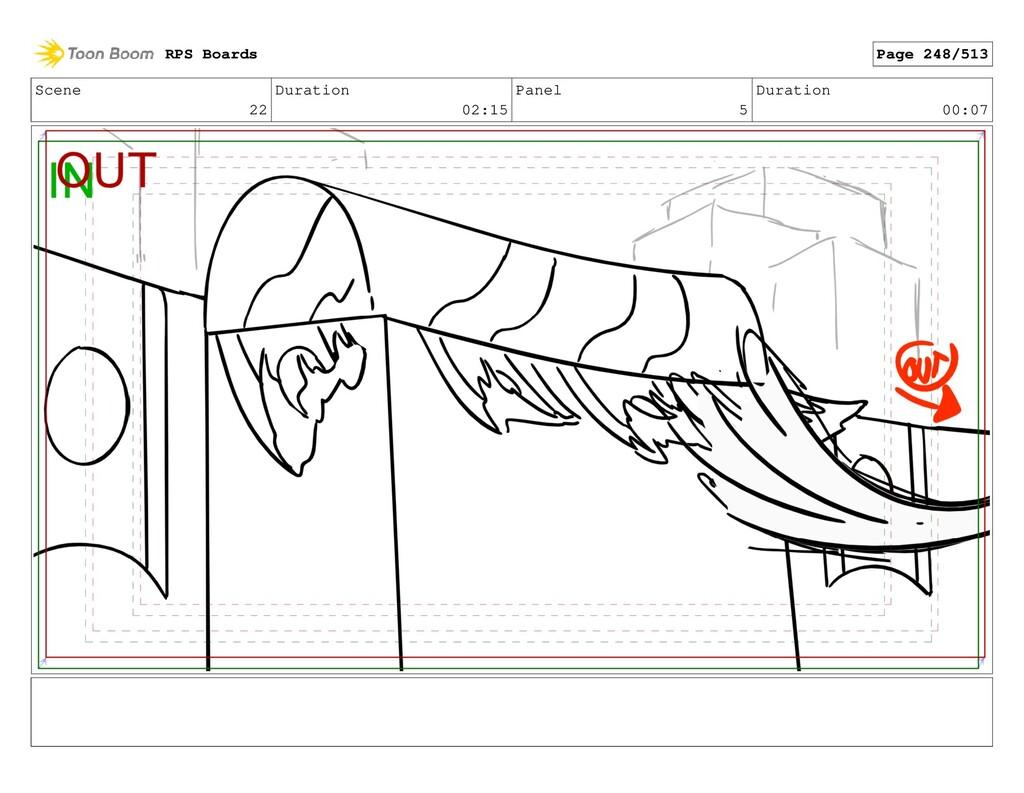 Scene 22 Duration 02:15 Panel 5 Duration 00:07 ...