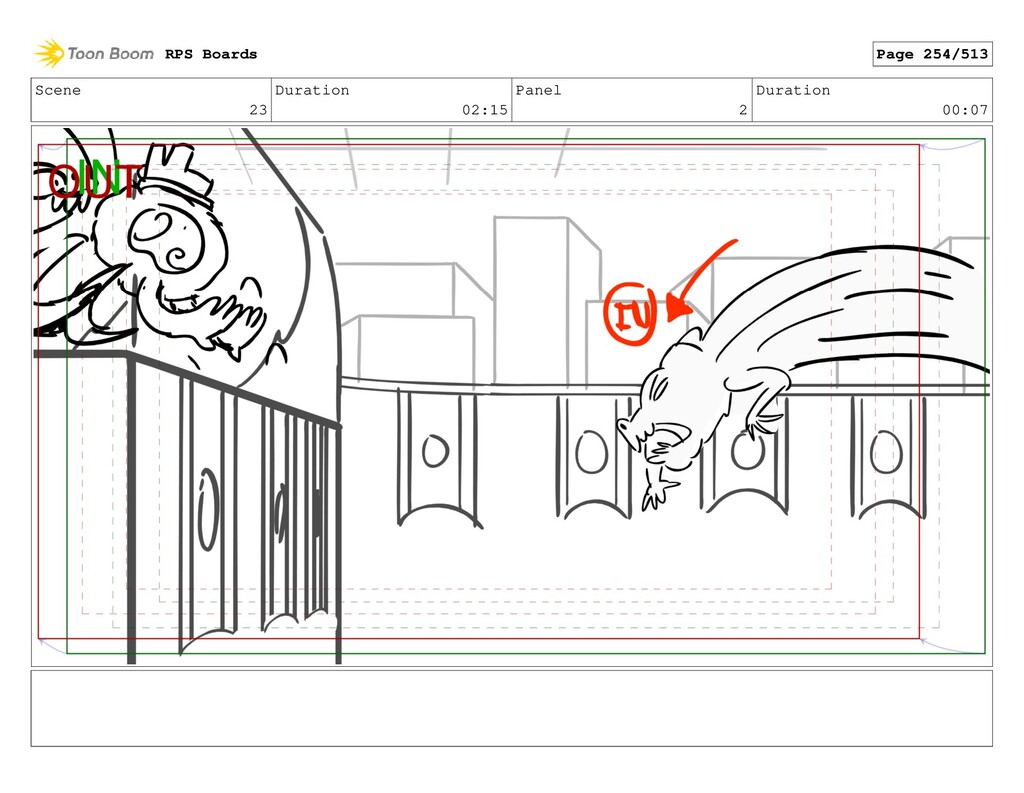 Scene 23 Duration 02:15 Panel 2 Duration 00:07 ...