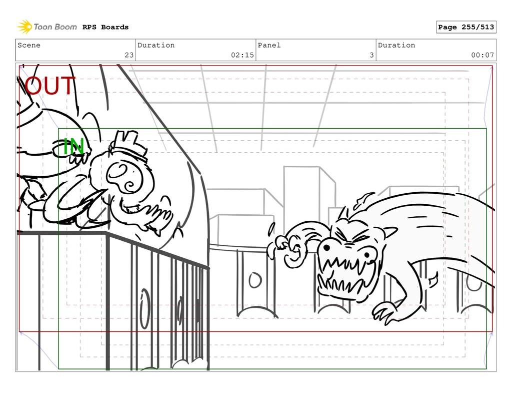 Scene 23 Duration 02:15 Panel 3 Duration 00:07 ...