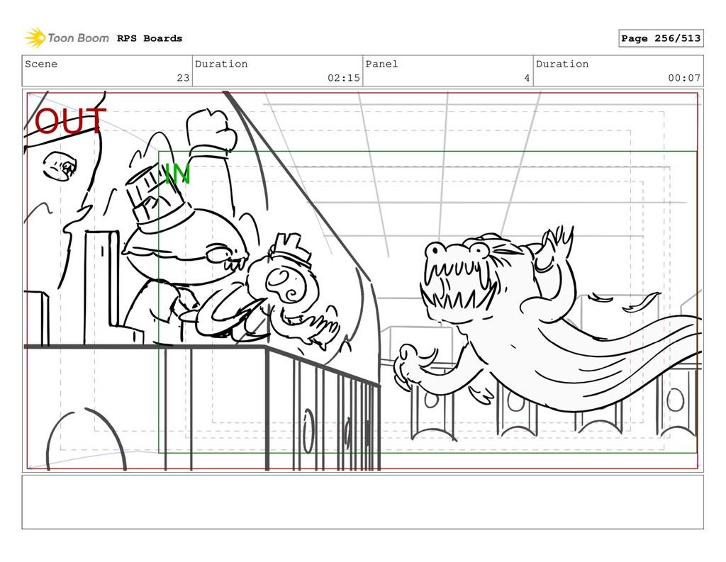 Scene 23 Duration 02:15 Panel 4 Duration 00:07 ...