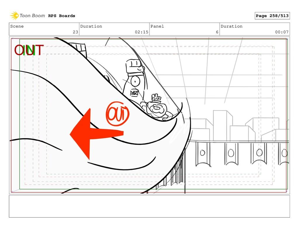 Scene 23 Duration 02:15 Panel 6 Duration 00:07 ...