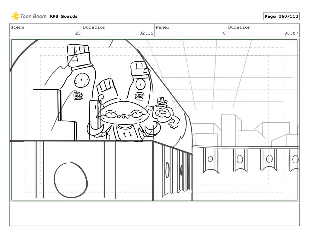 Scene 23 Duration 02:15 Panel 8 Duration 00:07 ...