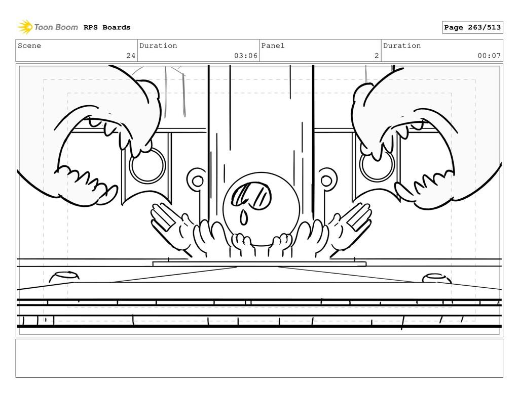 Scene 24 Duration 03:06 Panel 2 Duration 00:07 ...
