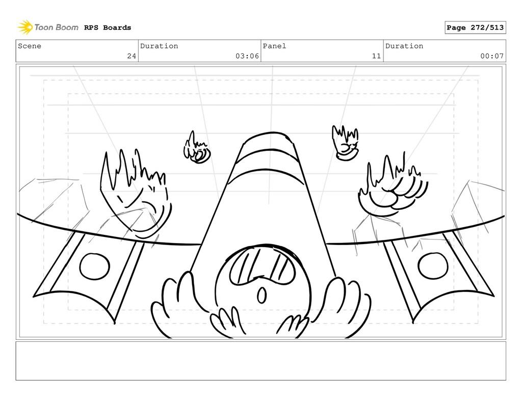 Scene 24 Duration 03:06 Panel 11 Duration 00:07...