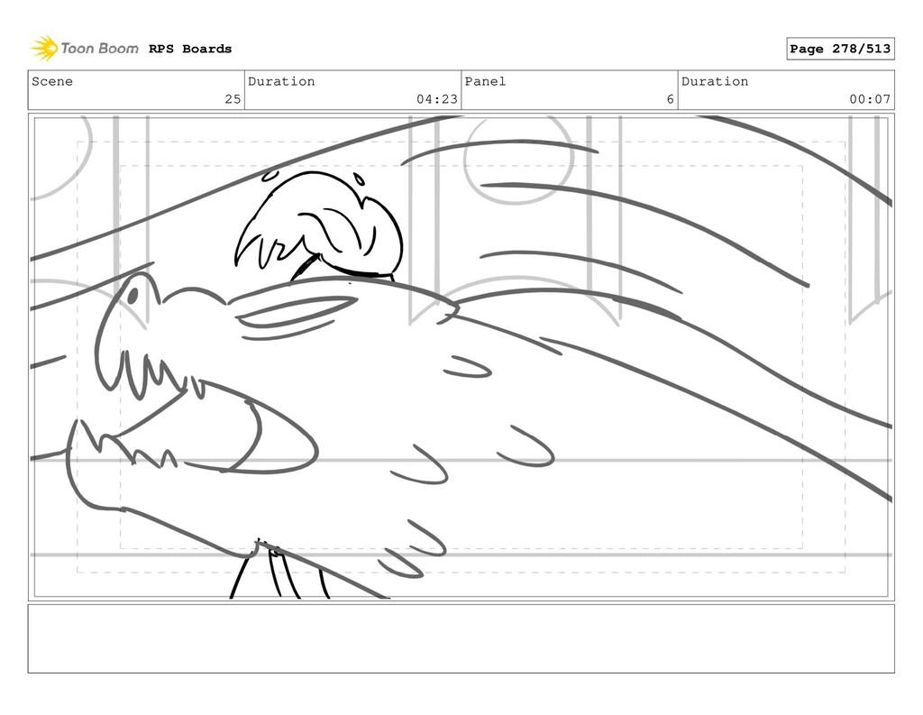 Scene 25 Duration 04:23 Panel 6 Duration 00:07 ...
