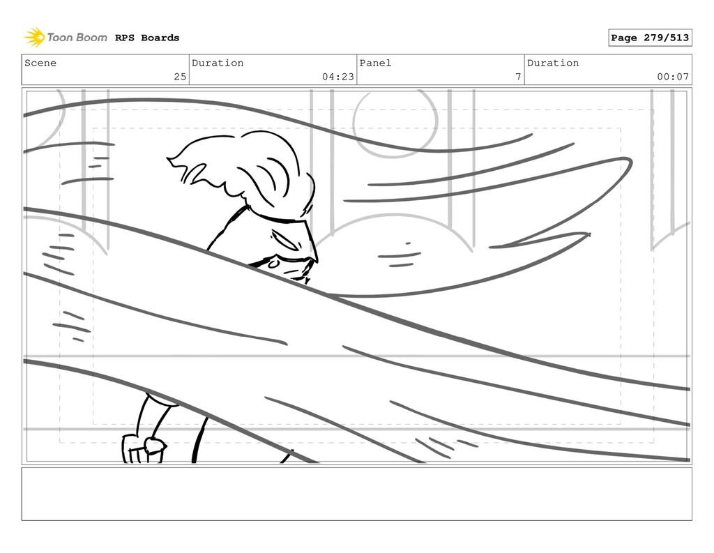 Scene 25 Duration 04:23 Panel 7 Duration 00:07 ...