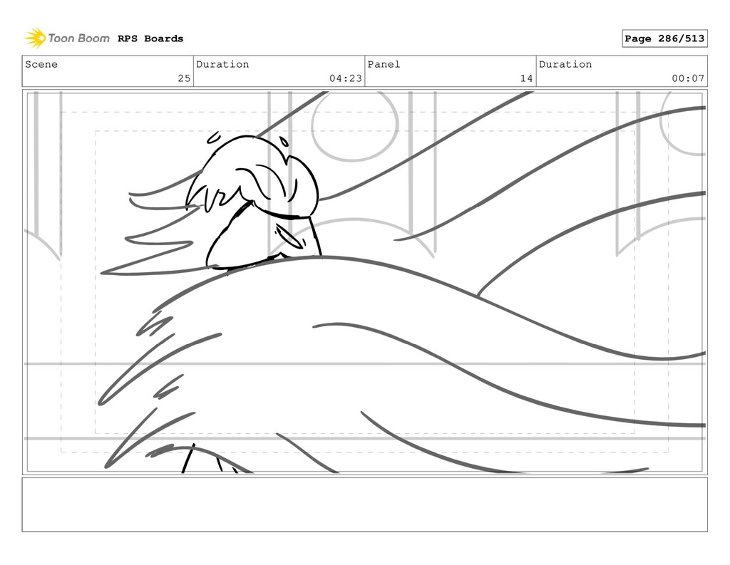 Scene 25 Duration 04:23 Panel 14 Duration 00:07...