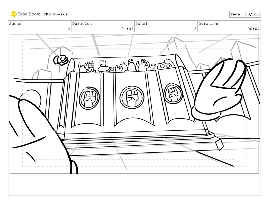 Scene 2 Duration 01:04 Panel 3 Duration 00:07 R...