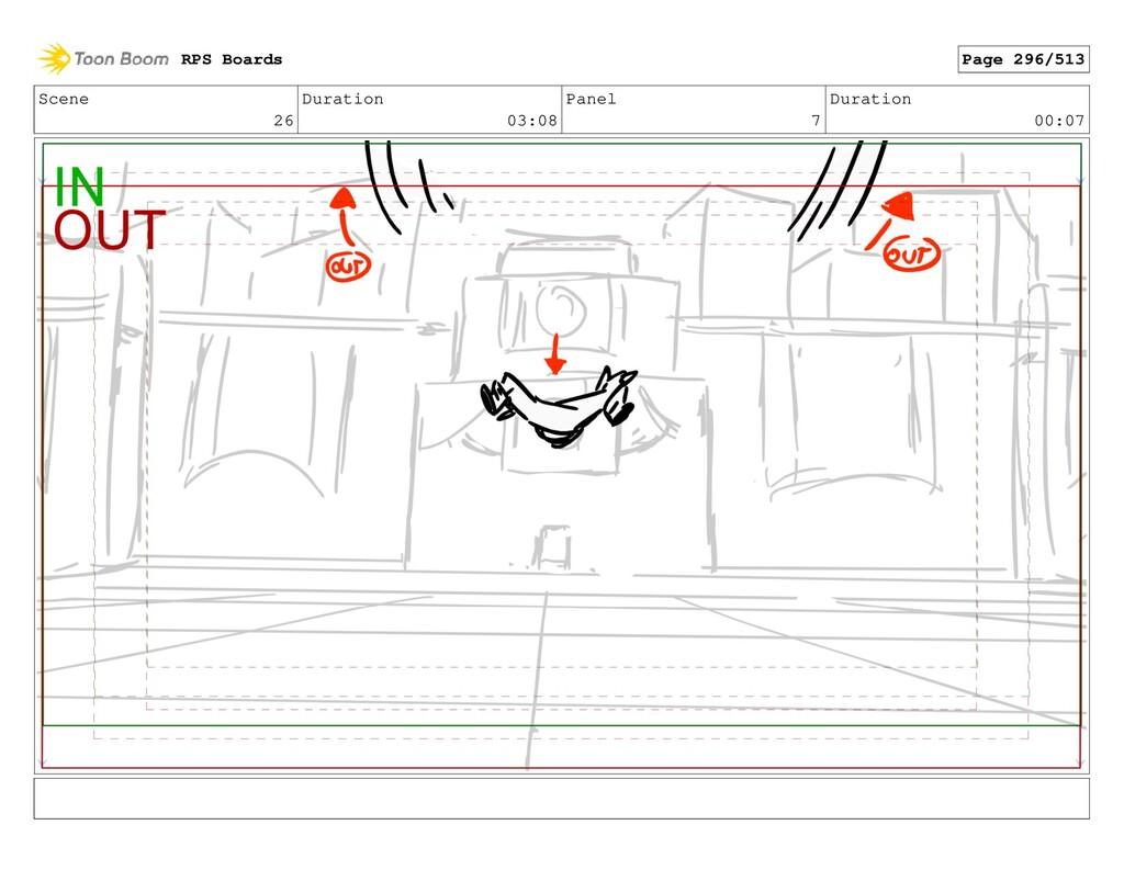 Scene 26 Duration 03:08 Panel 7 Duration 00:07 ...