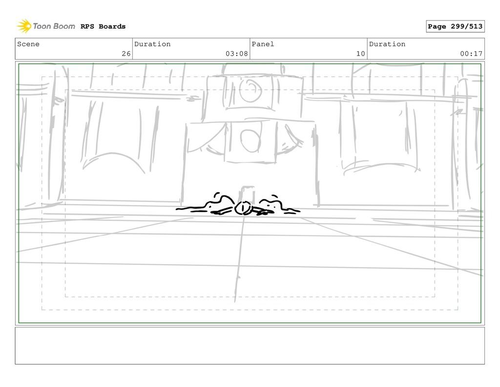 Scene 26 Duration 03:08 Panel 10 Duration 00:17...