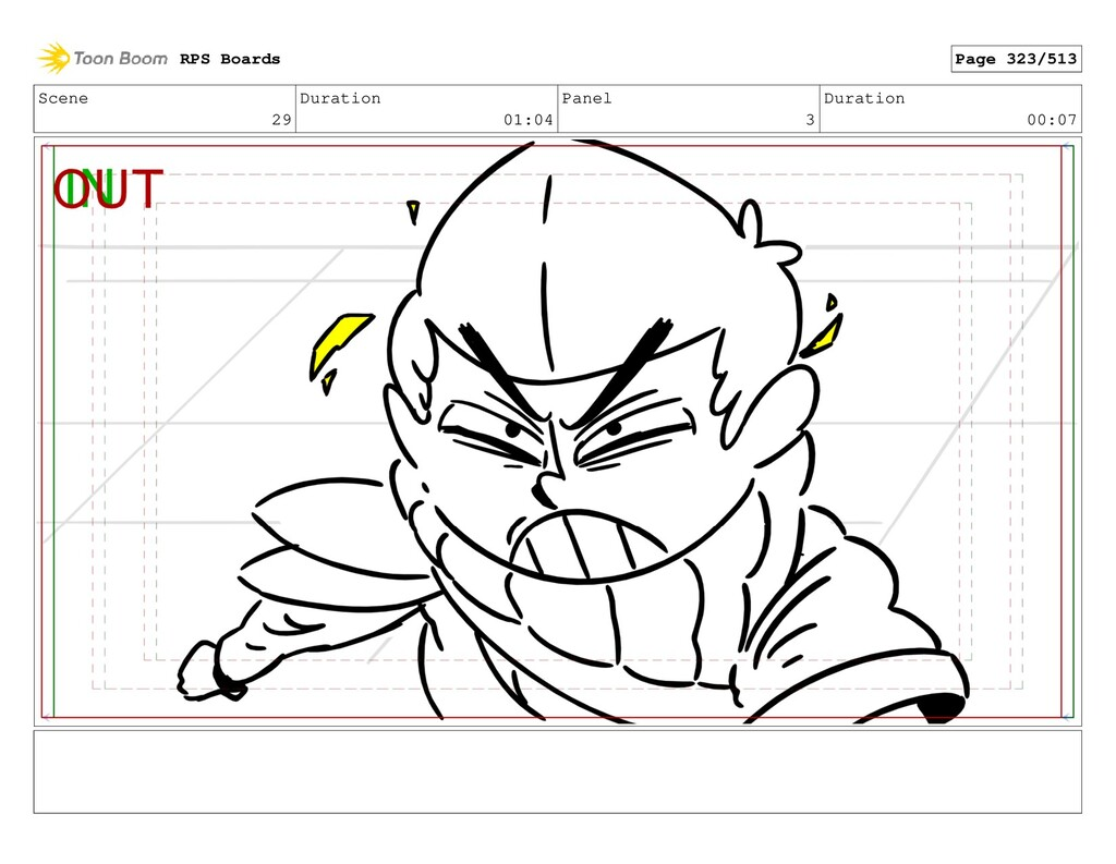 Scene 29 Duration 01:04 Panel 3 Duration 00:07 ...
