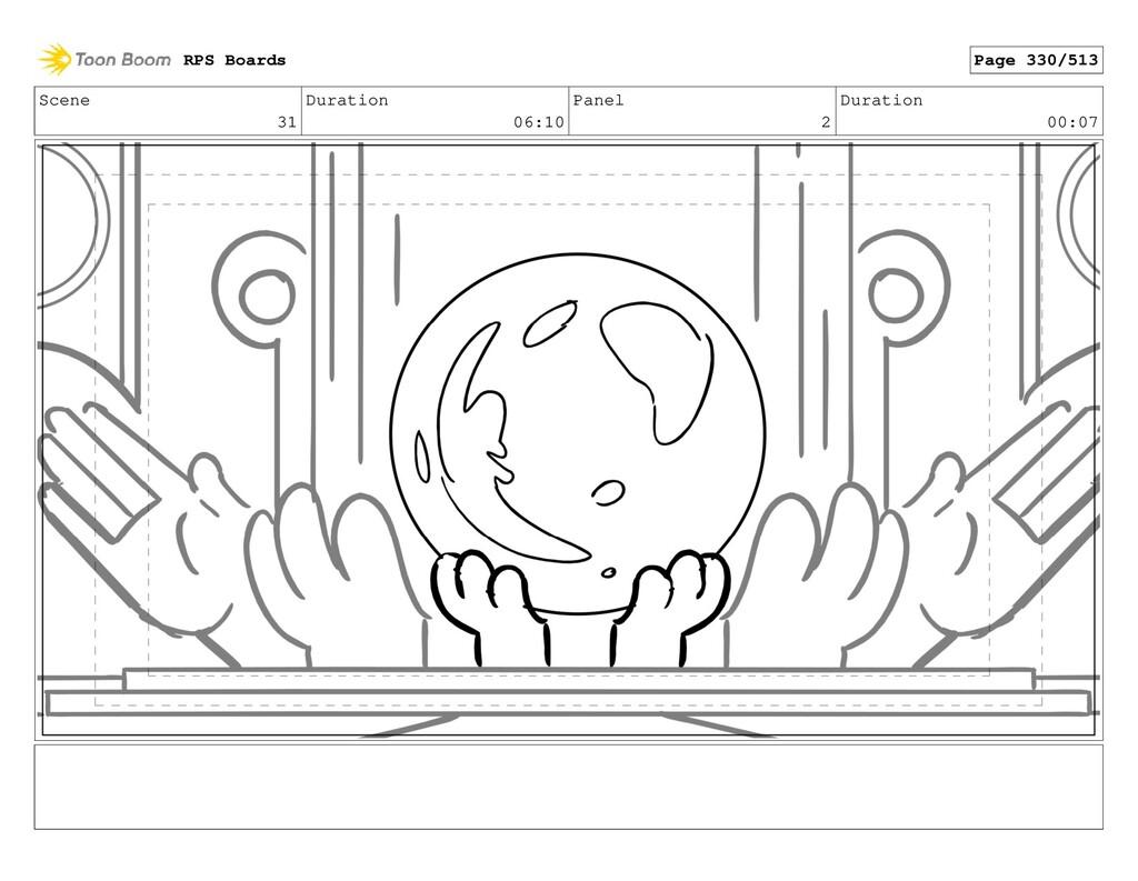Scene 31 Duration 06:10 Panel 2 Duration 00:07 ...