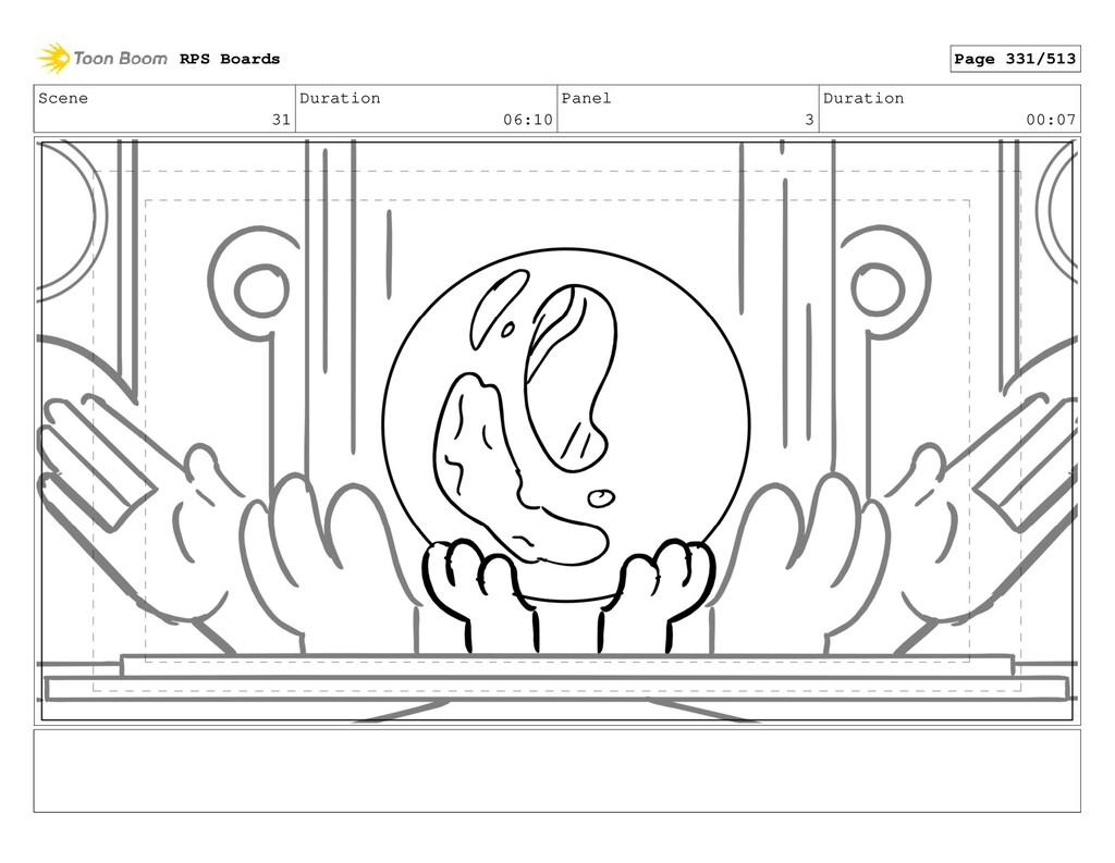 Scene 31 Duration 06:10 Panel 3 Duration 00:07 ...