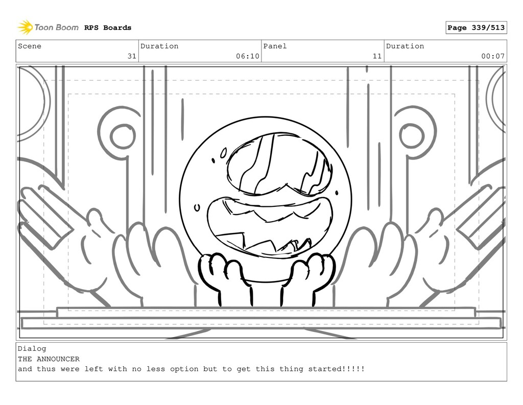 Scene 31 Duration 06:10 Panel 11 Duration 00:07...