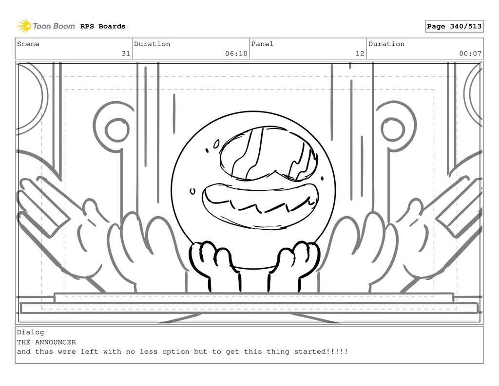 Scene 31 Duration 06:10 Panel 12 Duration 00:07...