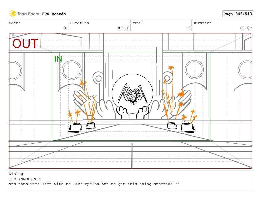 Scene 31 Duration 06:10 Panel 18 Duration 00:07...