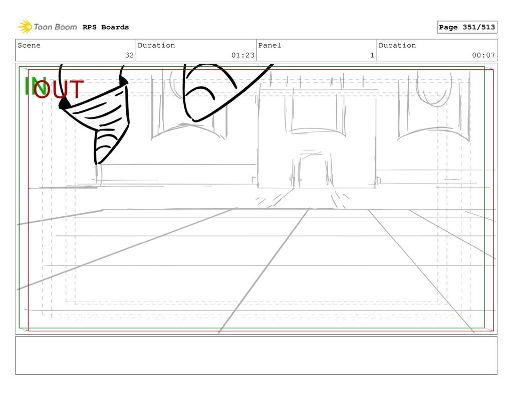 Scene 32 Duration 01:23 Panel 1 Duration 00:07 ...