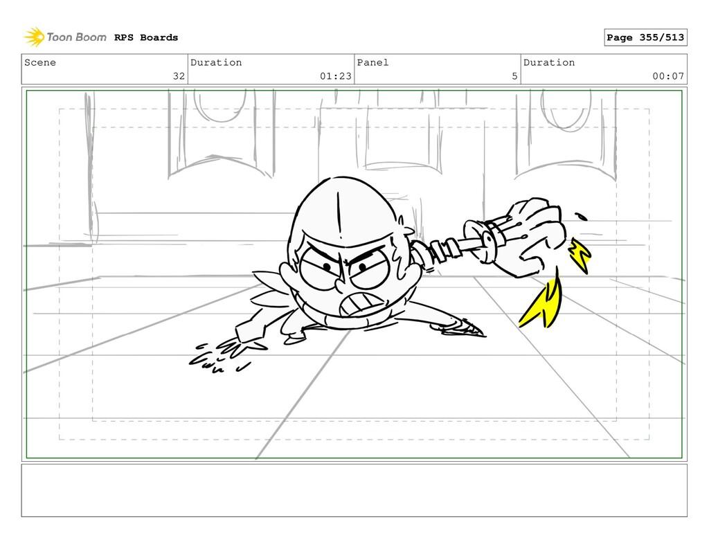 Scene 32 Duration 01:23 Panel 5 Duration 00:07 ...