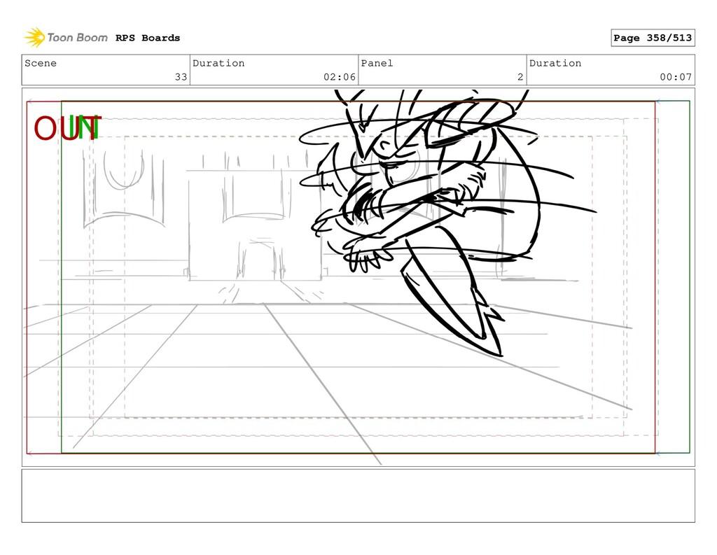 Scene 33 Duration 02:06 Panel 2 Duration 00:07 ...