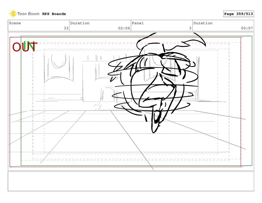 Scene 33 Duration 02:06 Panel 3 Duration 00:07 ...