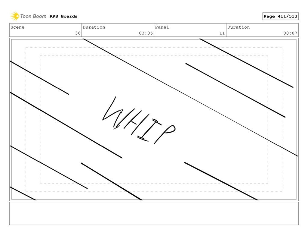 Scene 36 Duration 03:05 Panel 11 Duration 00:07...