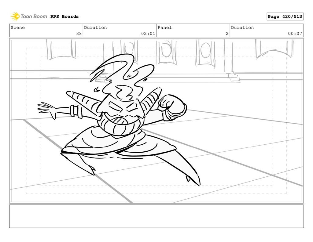 Scene 38 Duration 02:01 Panel 2 Duration 00:07 ...