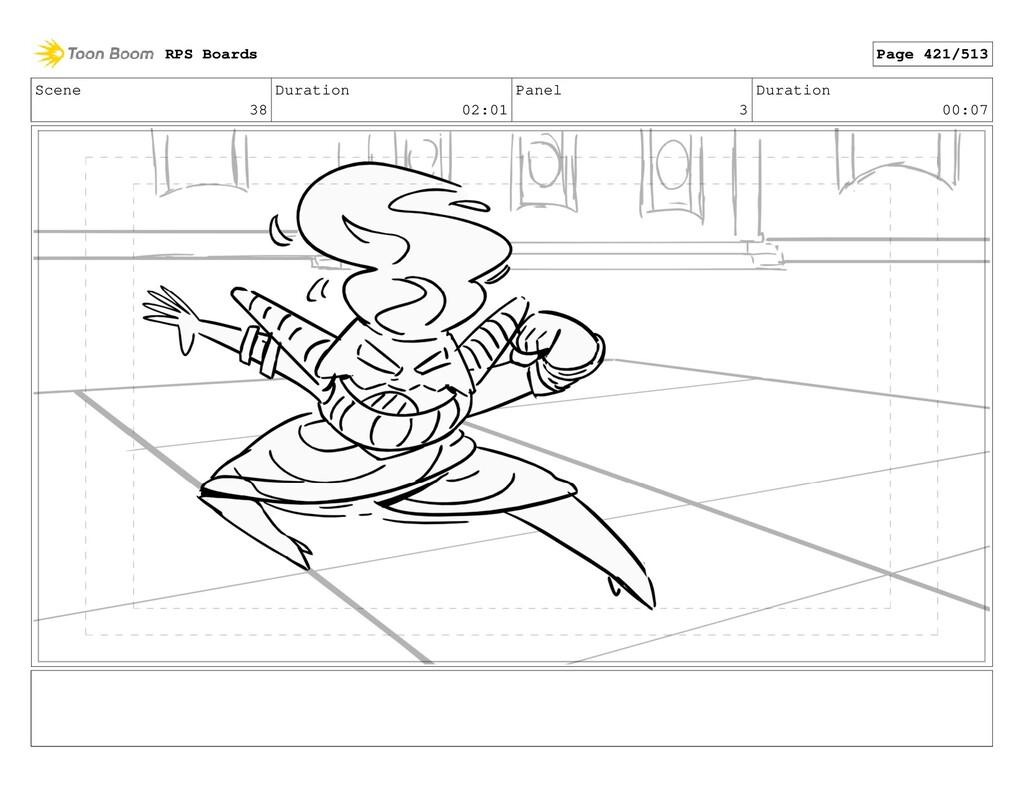 Scene 38 Duration 02:01 Panel 3 Duration 00:07 ...