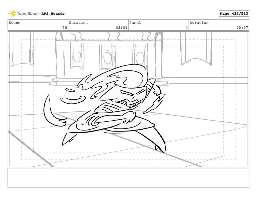 Scene 38 Duration 02:01 Panel 4 Duration 00:07 ...