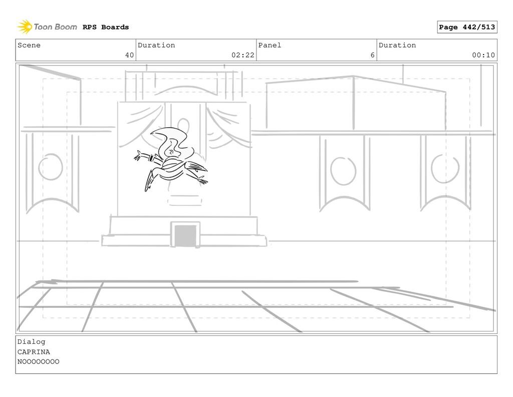 Scene 40 Duration 02:22 Panel 6 Duration 00:10 ...