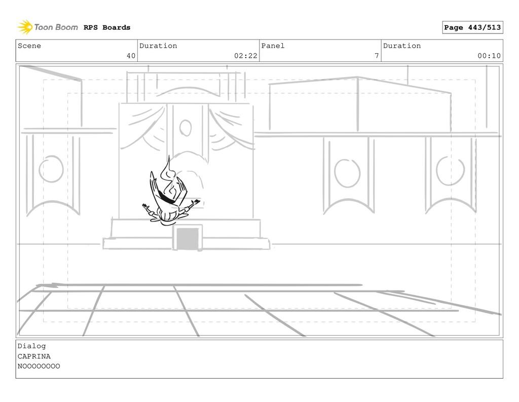 Scene 40 Duration 02:22 Panel 7 Duration 00:10 ...