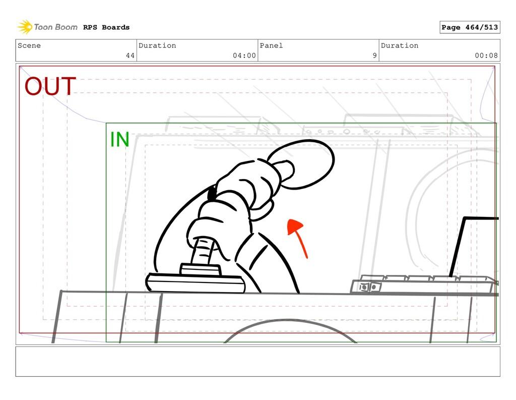 Scene 44 Duration 04:00 Panel 9 Duration 00:08 ...