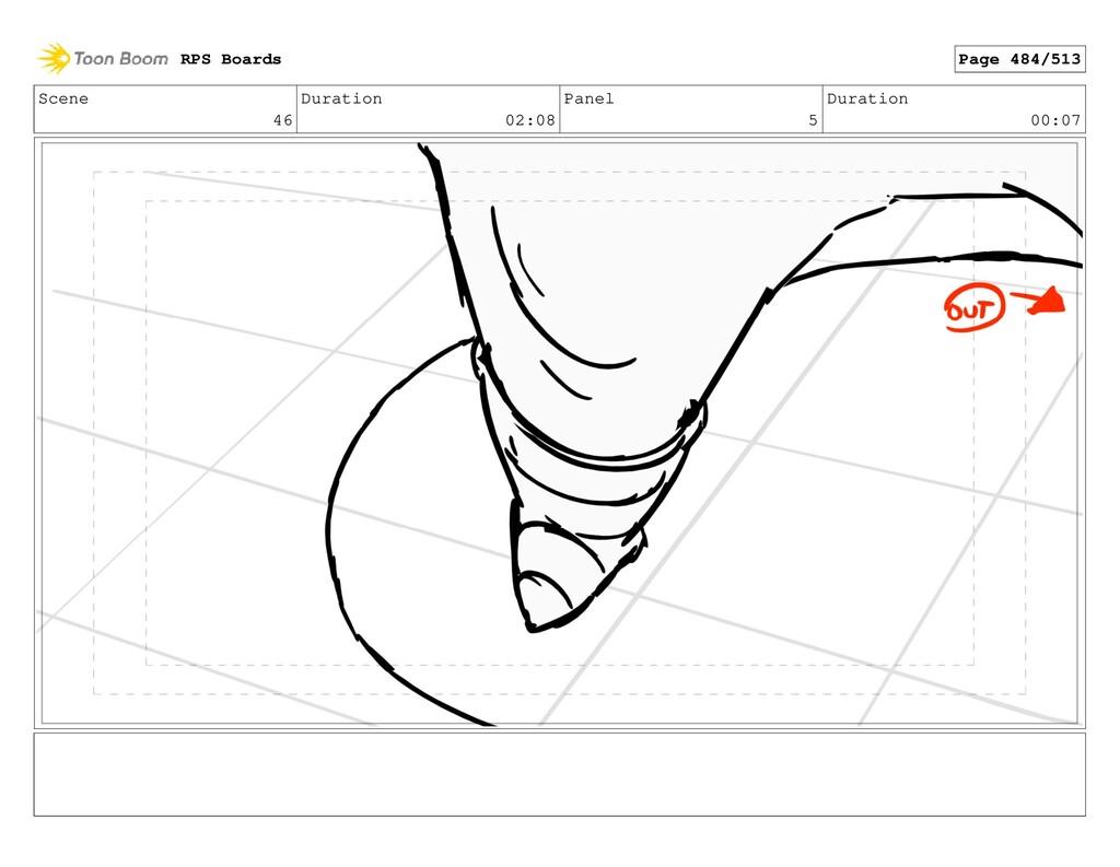 Scene 46 Duration 02:08 Panel 5 Duration 00:07 ...