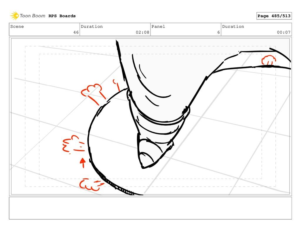 Scene 46 Duration 02:08 Panel 6 Duration 00:07 ...
