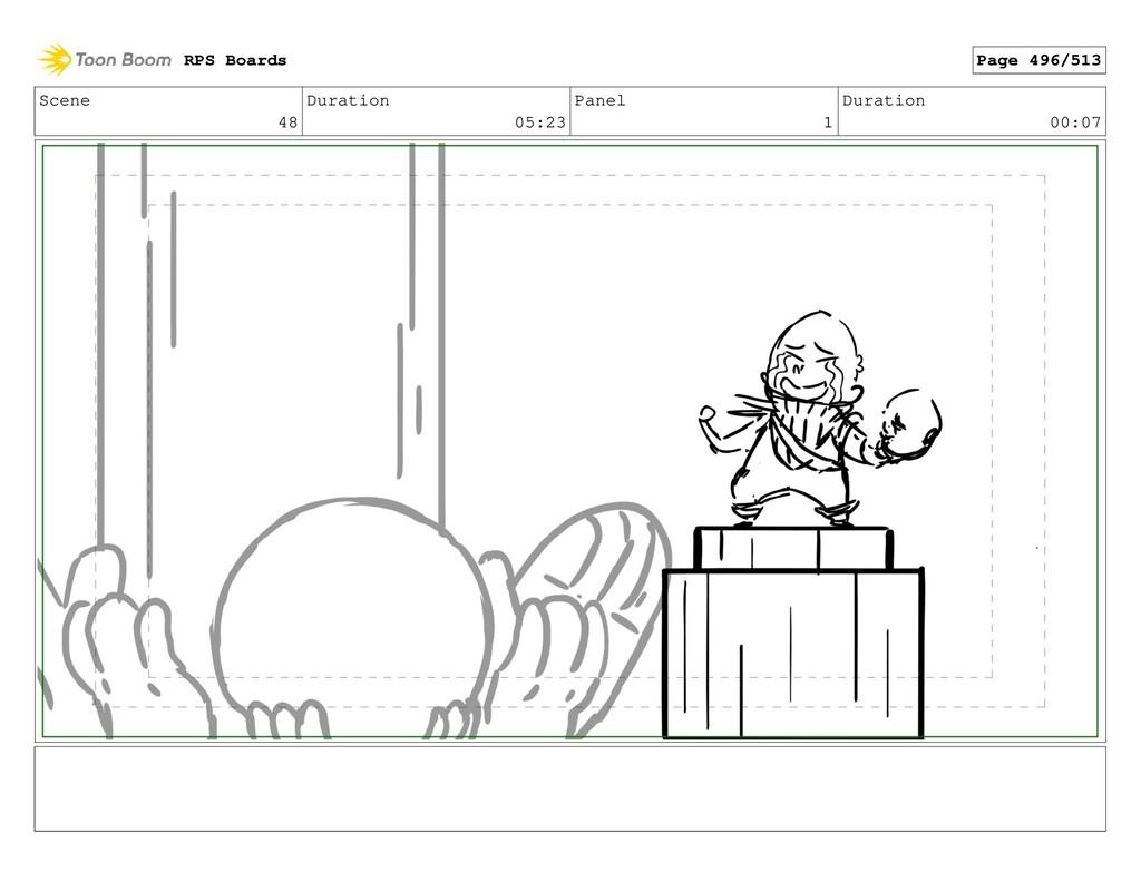 Scene 48 Duration 05:23 Panel 1 Duration 00:07 ...