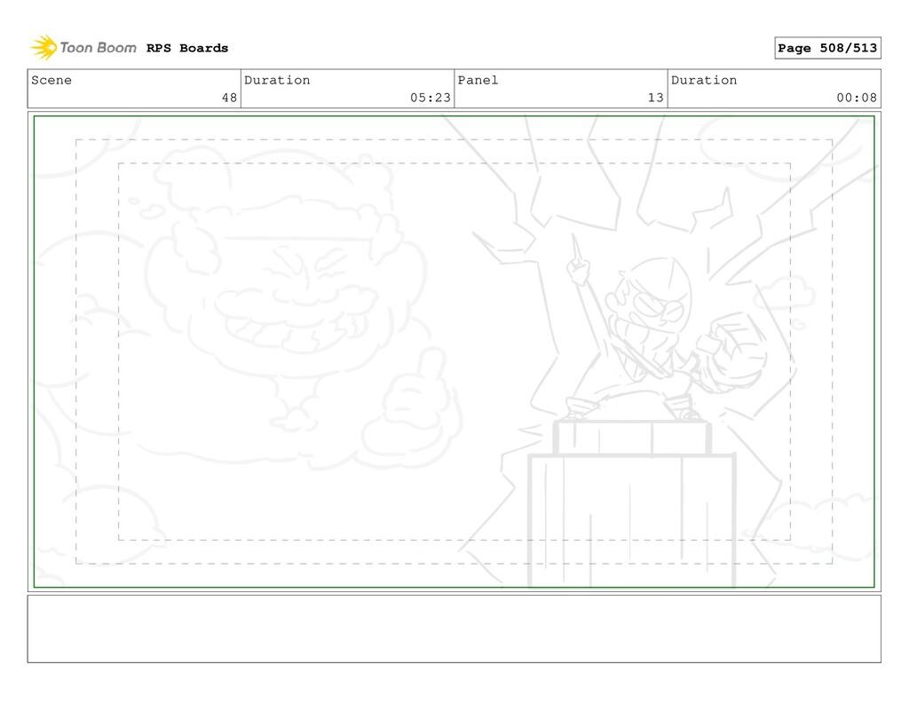 Scene 48 Duration 05:23 Panel 13 Duration 00:08...