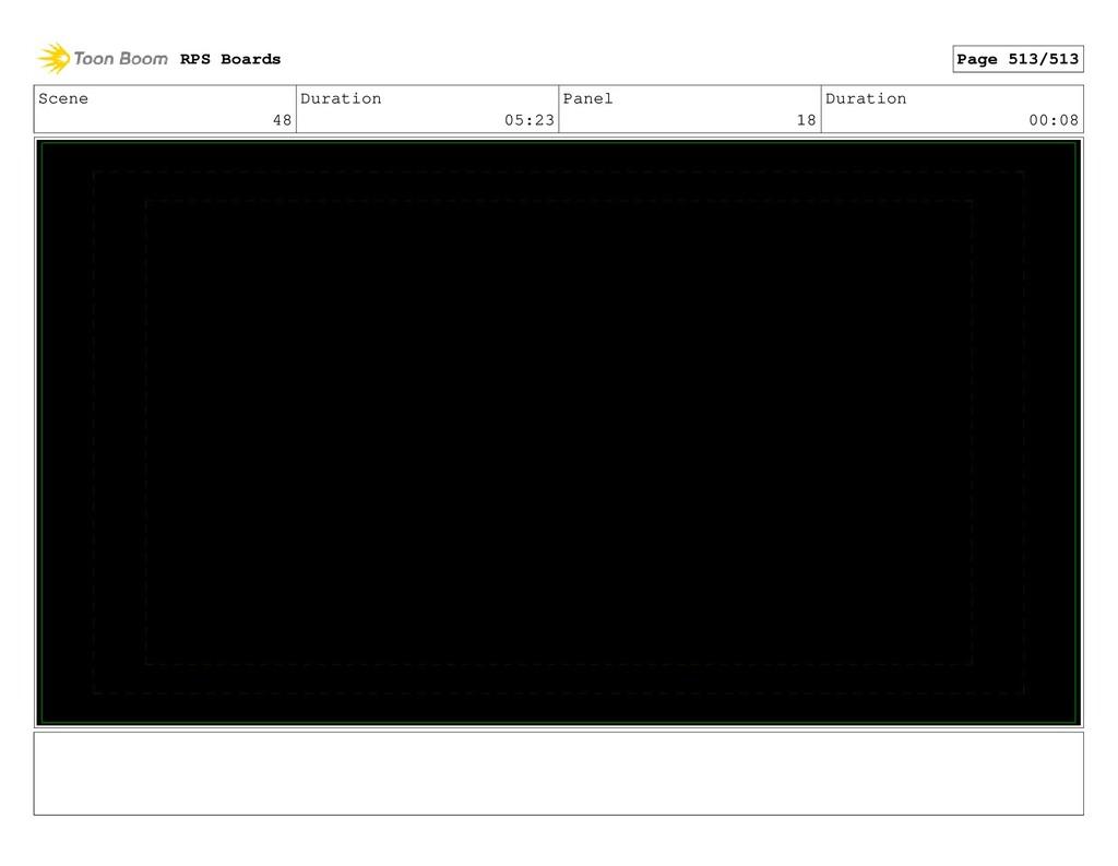Scene 48 Duration 05:23 Panel 18 Duration 00:08...