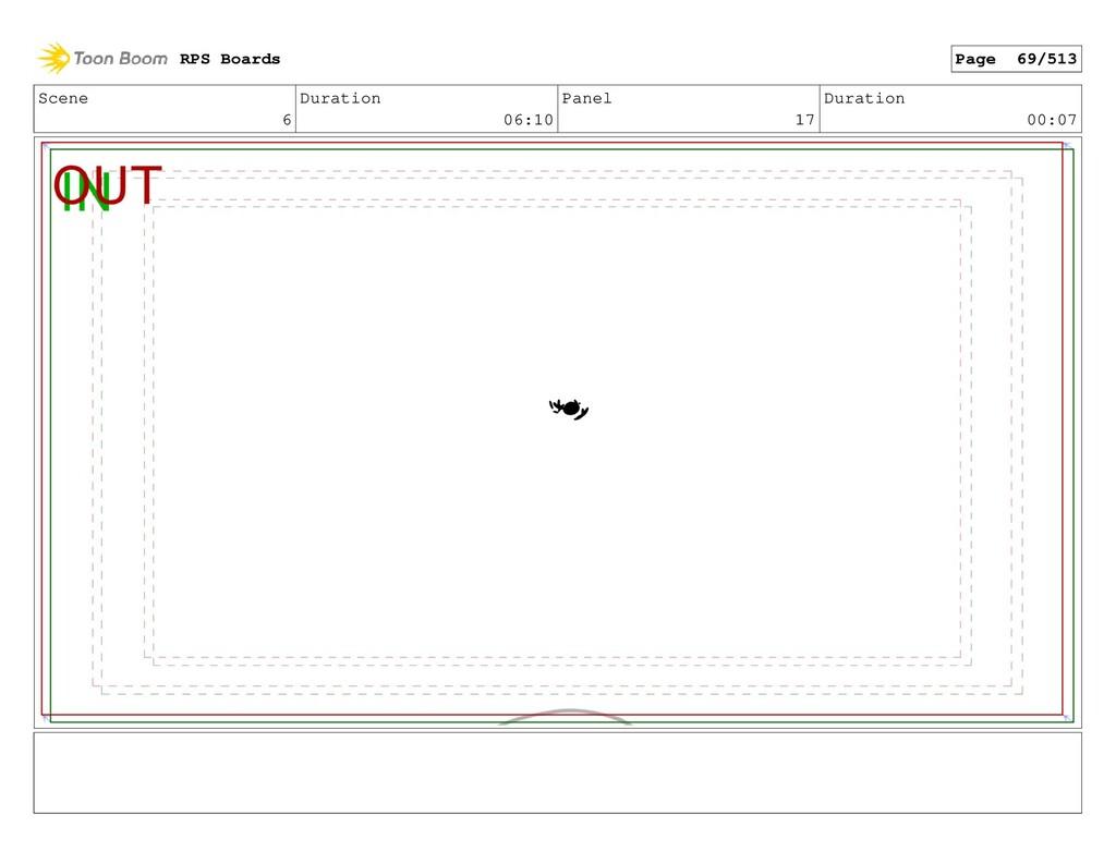 Scene 6 Duration 06:10 Panel 17 Duration 00:07 ...