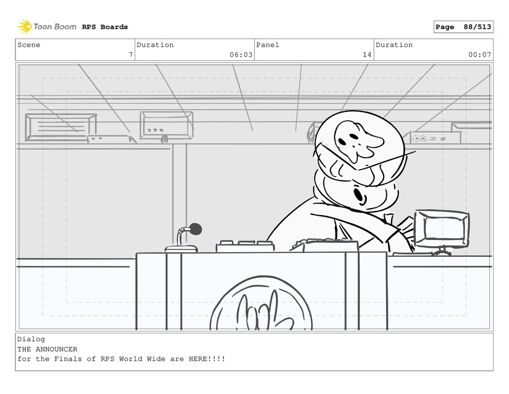Scene 7 Duration 06:03 Panel 14 Duration 00:07 ...