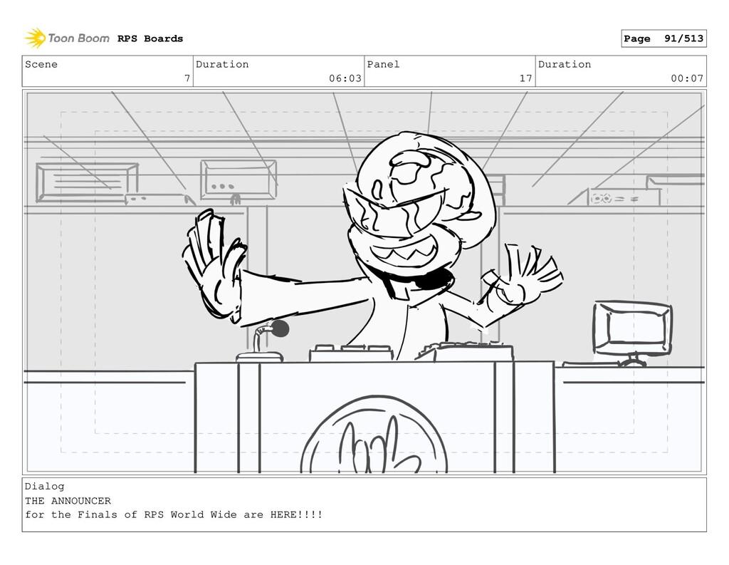 Scene 7 Duration 06:03 Panel 17 Duration 00:07 ...