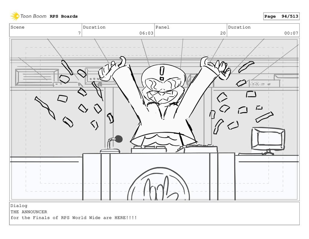 Scene 7 Duration 06:03 Panel 20 Duration 00:07 ...