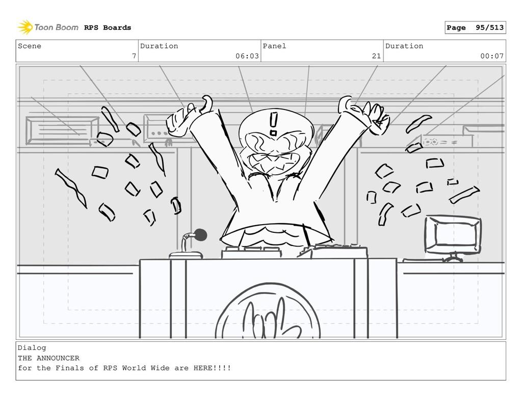 Scene 7 Duration 06:03 Panel 21 Duration 00:07 ...