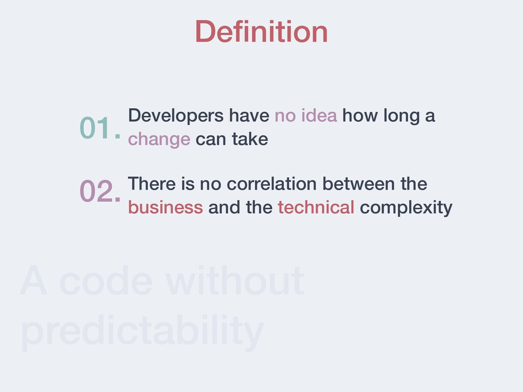 A code without predictability Definition Develop...