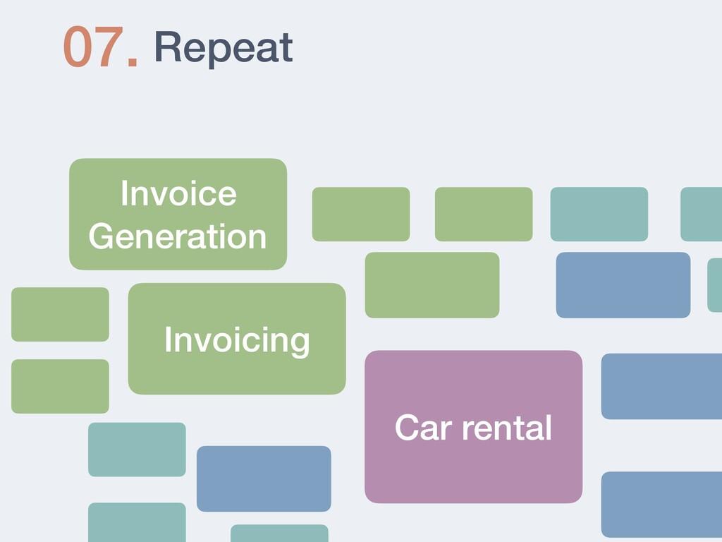 Repeat 07. Invoice Generation Invoicing Car ren...