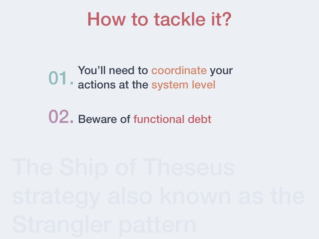 The Ship of Theseus strategy also known as the ...