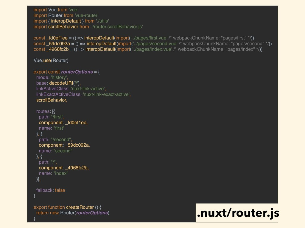 import Vue from 'vue' import Router from 'vue-r...