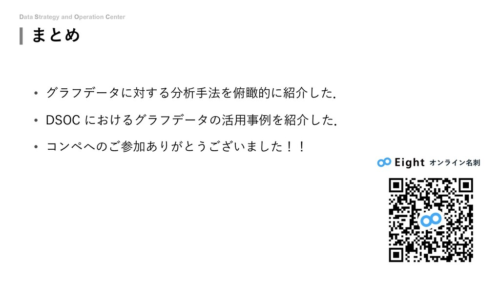 Data Strategy and Operation Center まとめ • グラフデータ...