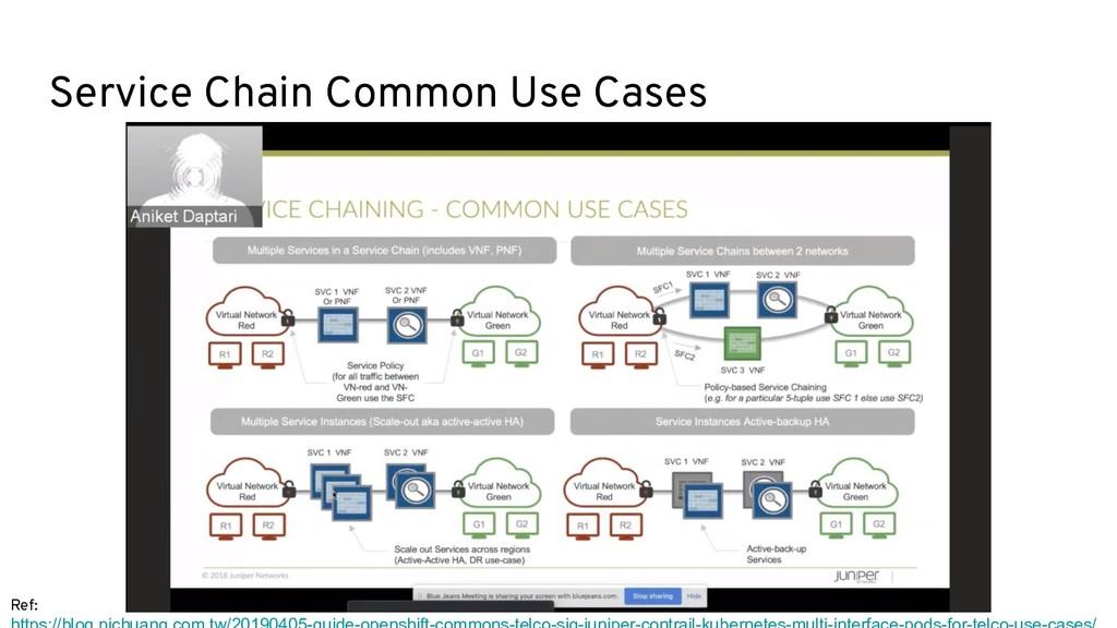 Ref: Service Chain Common Use Cases